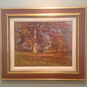 American 19th cent. oil by Carlton  Wiggins (1848-1932)