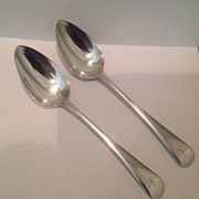 Pair of c.1800 British sterling Bateman spoons