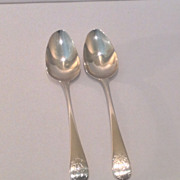 Pair of British sterling Bateman teaspoons