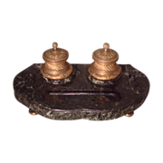 19th cent. French desk inkwell