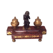 19th cent. French desk unit with bronze