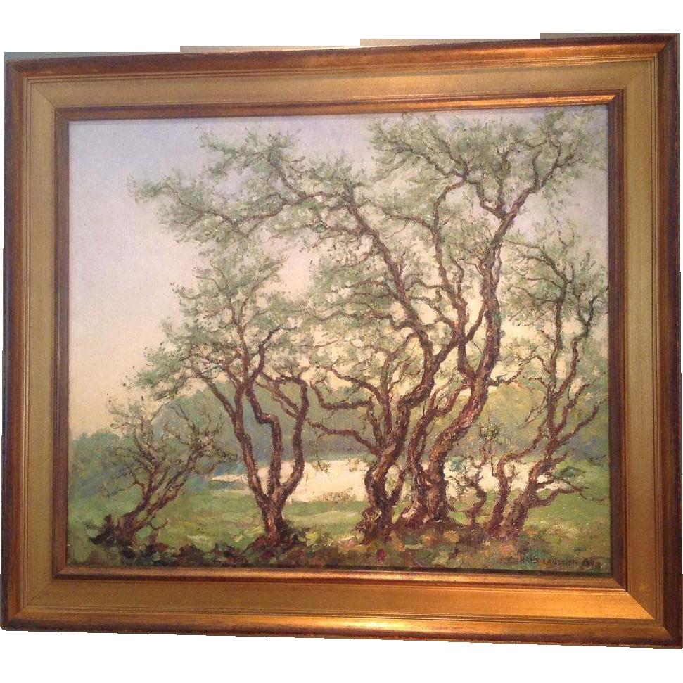 Hans Langtved(Danish 1892-1979) oil painting