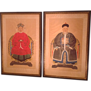 C.1900 Chinese ancestral portraits