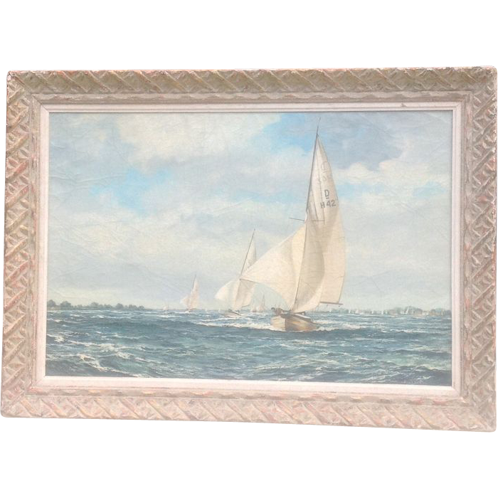 Large mid 20th cent. Seascape painting