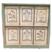 Vintage frame with stenciled insets