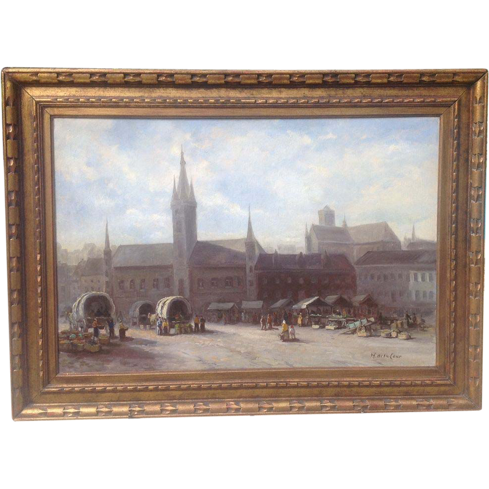 Large Mid cent. Belgian painting