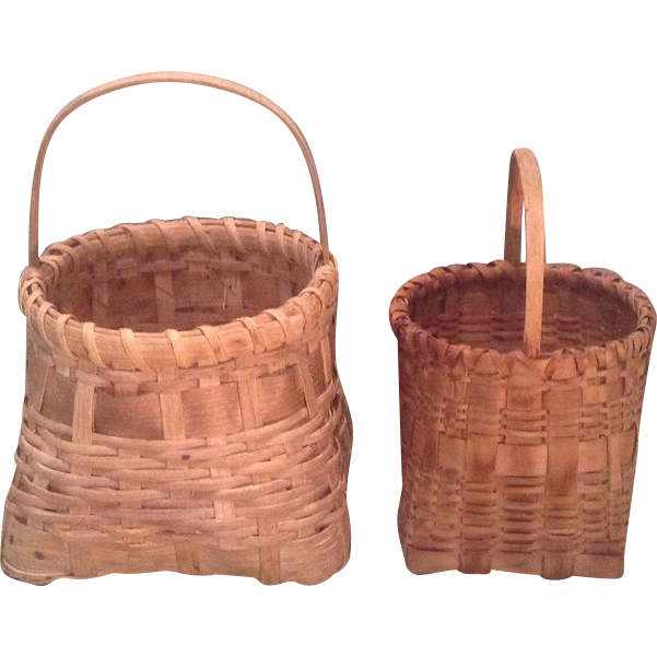 Two vintage American baskets