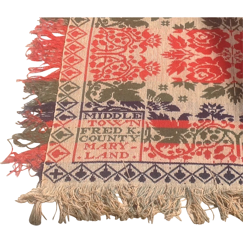 Mid 19th cent. American Coverlet