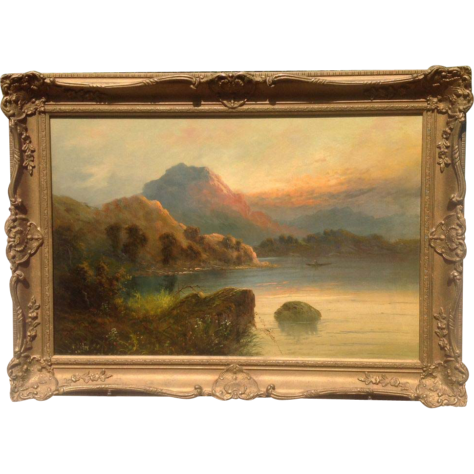 Late 19th cent. British oil painting