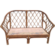 C. 1940 Rattan loveseat