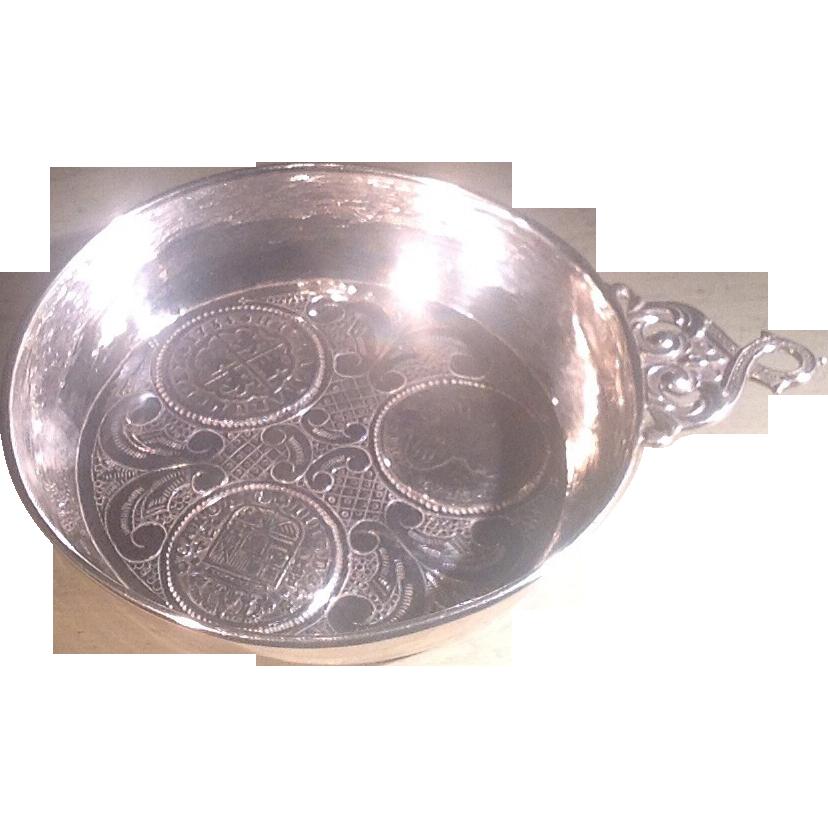 Vintage Spanish silver(.916) tastevin
