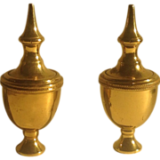 Pr. of English brass finials