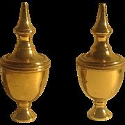 Pr. of English brass finials