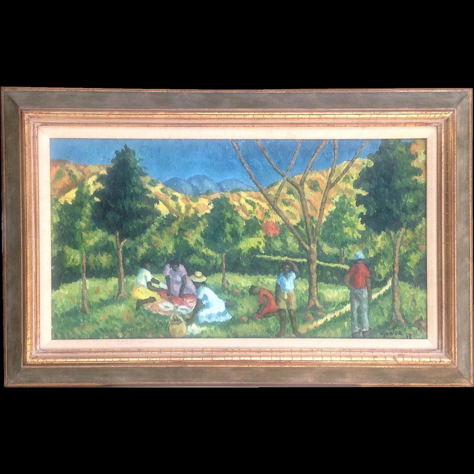 Mid-Century Haitian Oil Painting