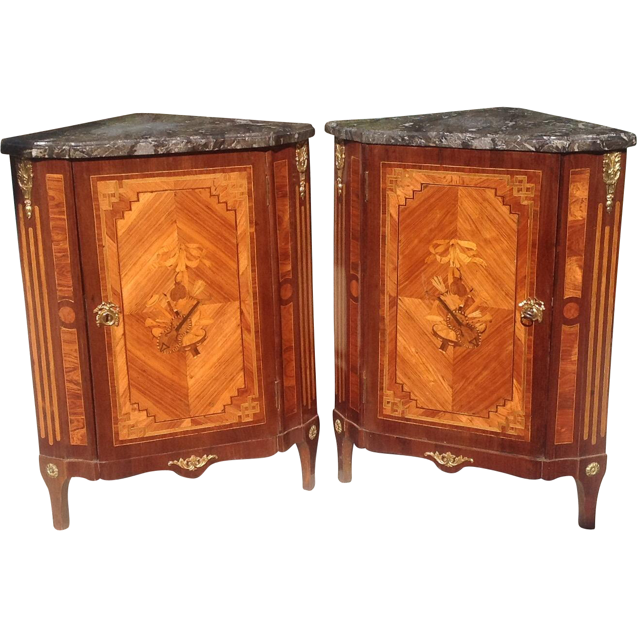 Pair of 18th c. French Louis XVI Cabinets