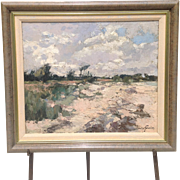 Early 20th C. French Impressionist Oil Painting