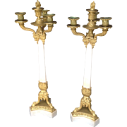 19th c. French Restauration Period Candelabra