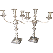 C. 1900 British Sterling Candelabra