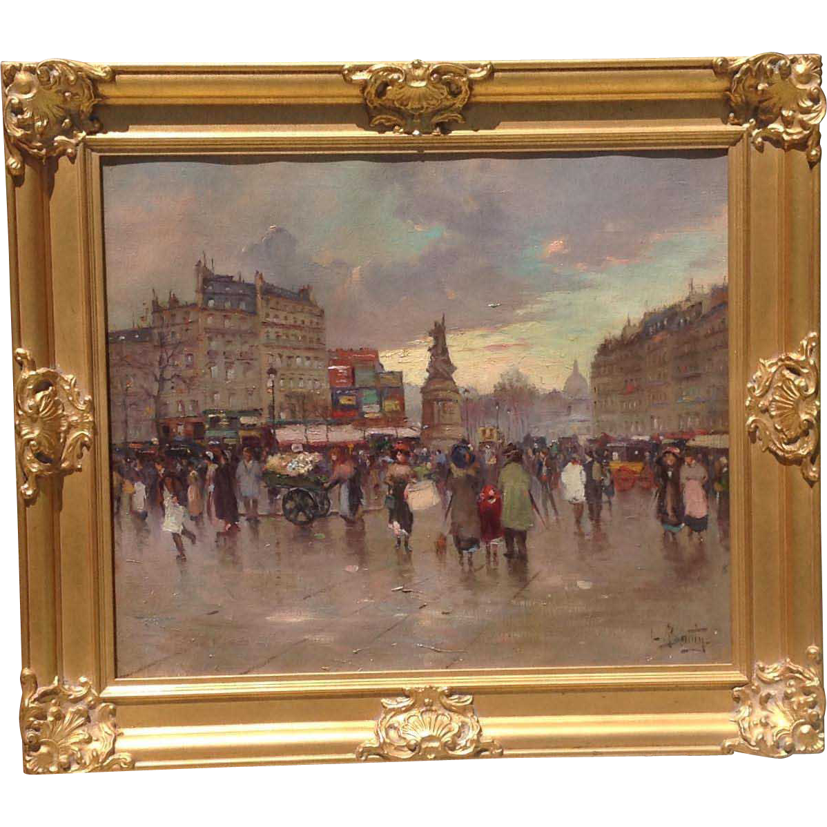 19th c. French Oil PaintIng
