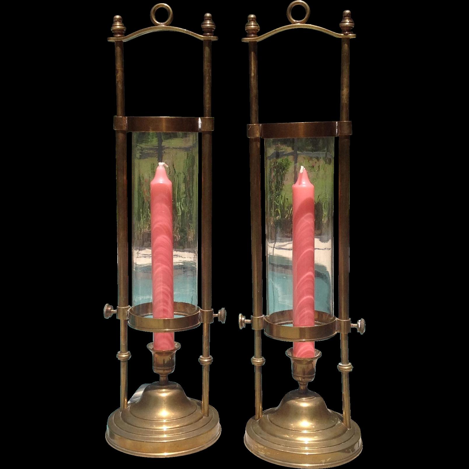 C. 1900 Brass Lanterns