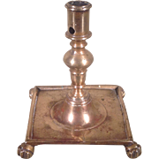17th c. Spanish Brass Candlestick