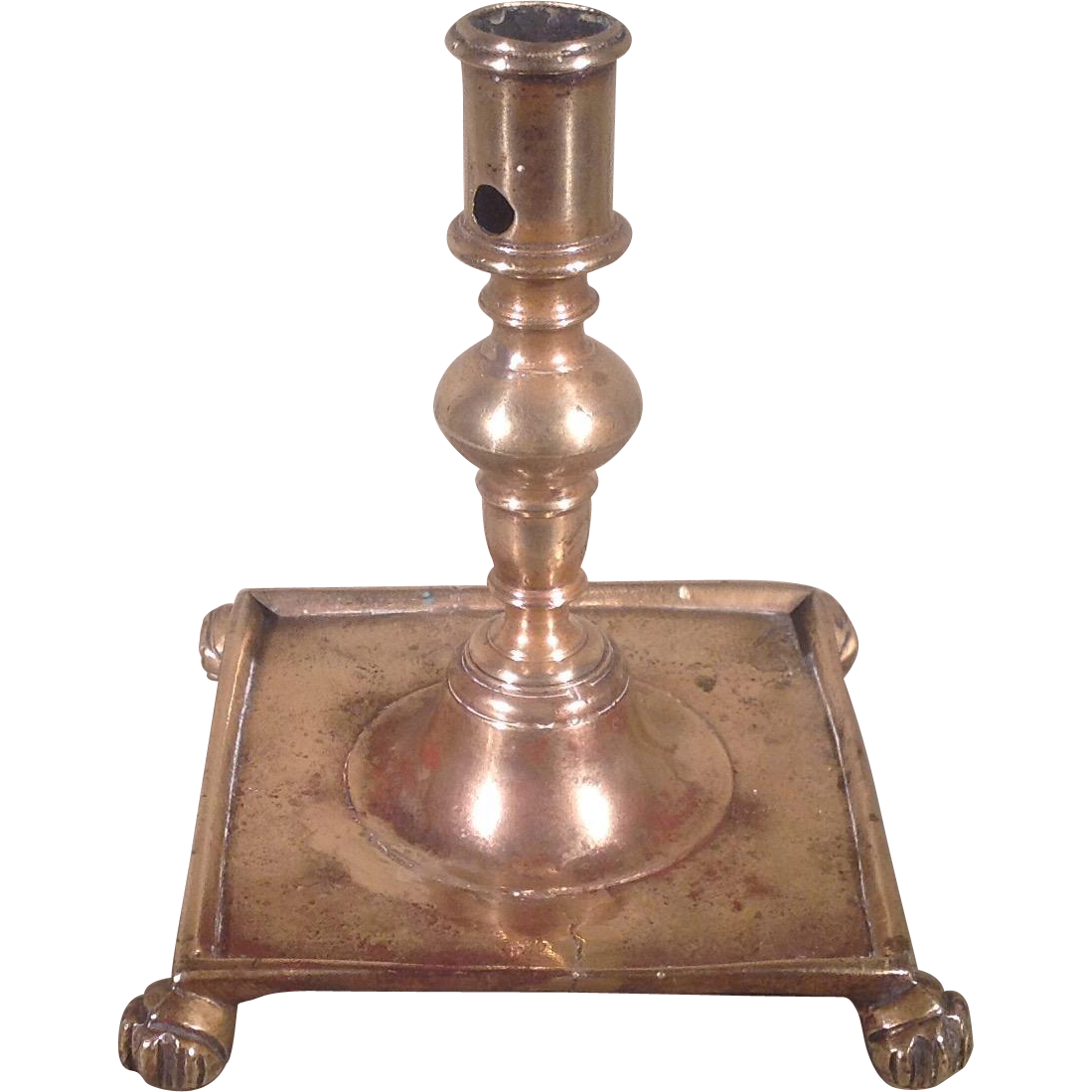 17th c. Spanish Brass Candlestick