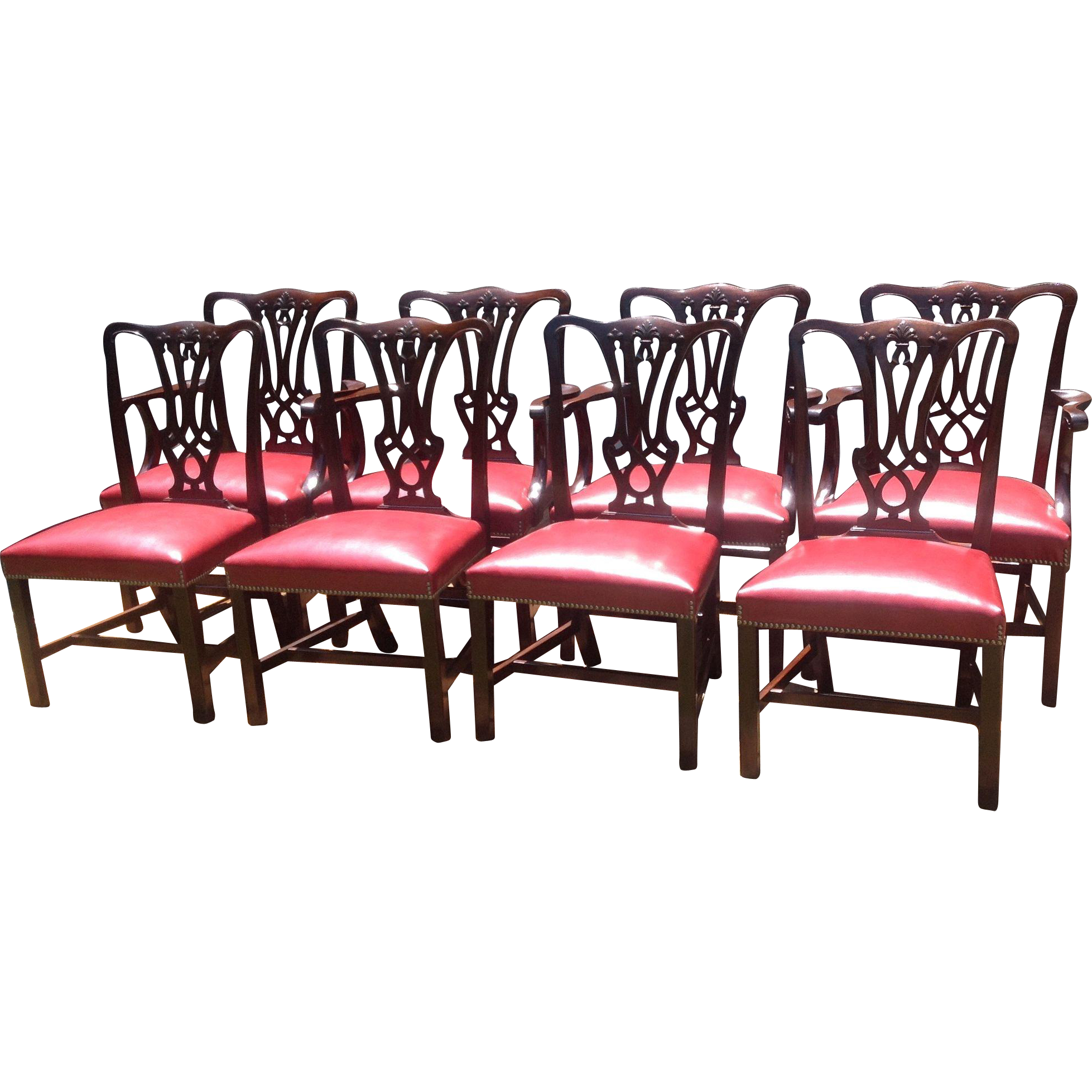 C. 1910 English Set Of Eight Chairs