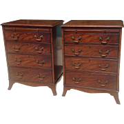19th c. Pair of Geo. III style chests