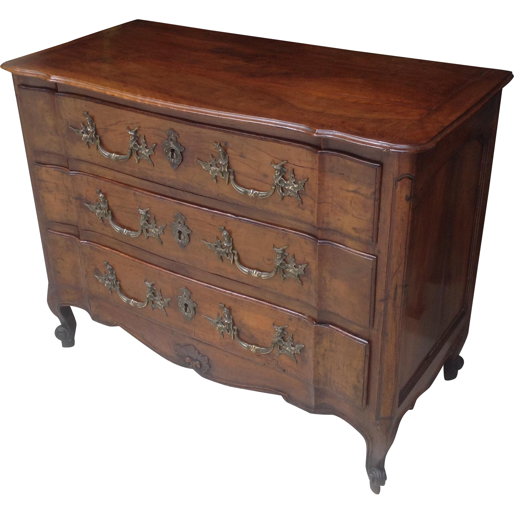 Louis XV period French Walnut Commode