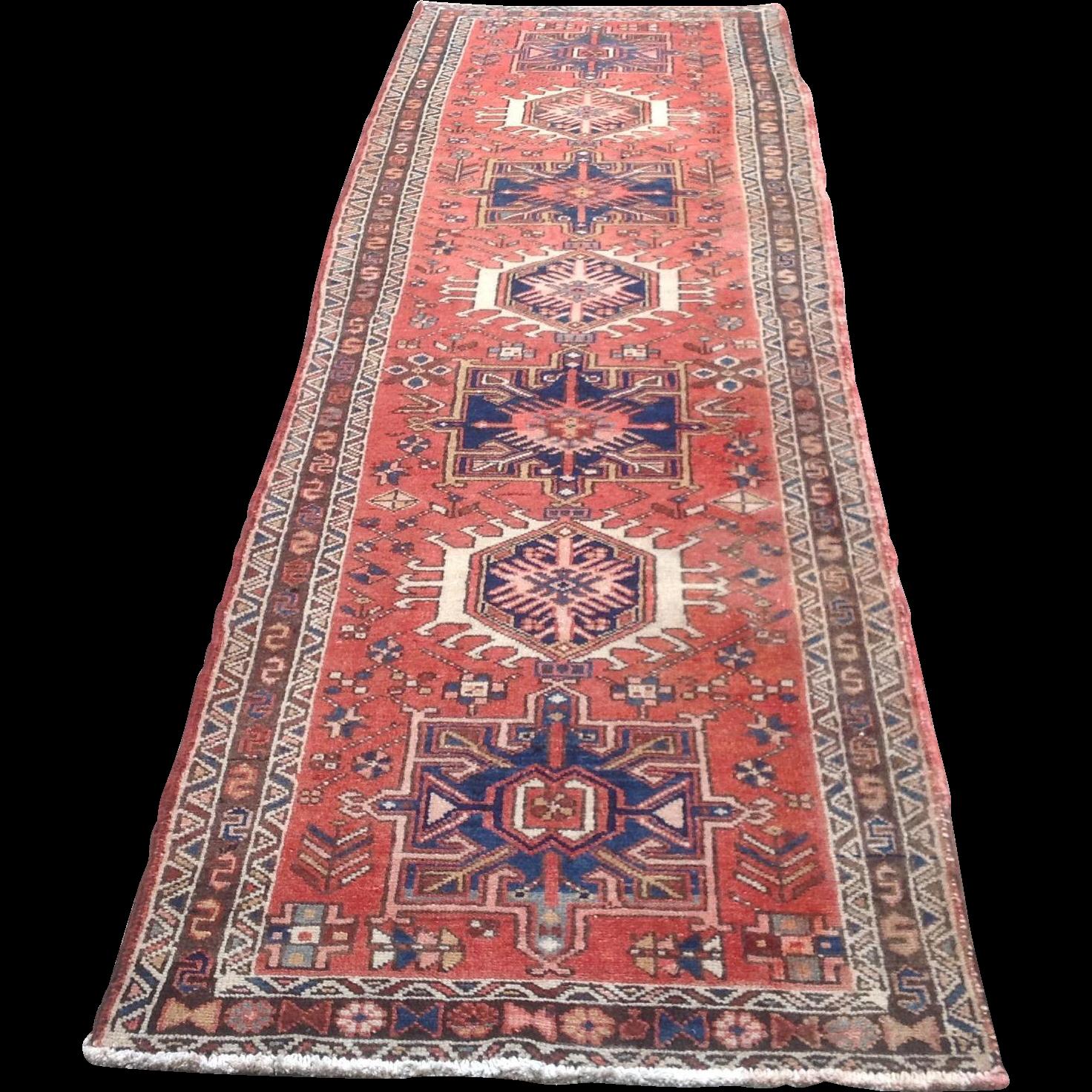 Early 20th c. Persian Karajeh Rug