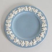 Wedgwood of Etruria & Barlaston - Blue Embossed Queen's Ware Plate