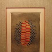 Arthur Luiz Piza Etching, Brazilian Artist, Limited Edition