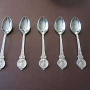 Set of Collectible Spoons by Birks of the 1937 Coronation Queen Elizabeth King George VI