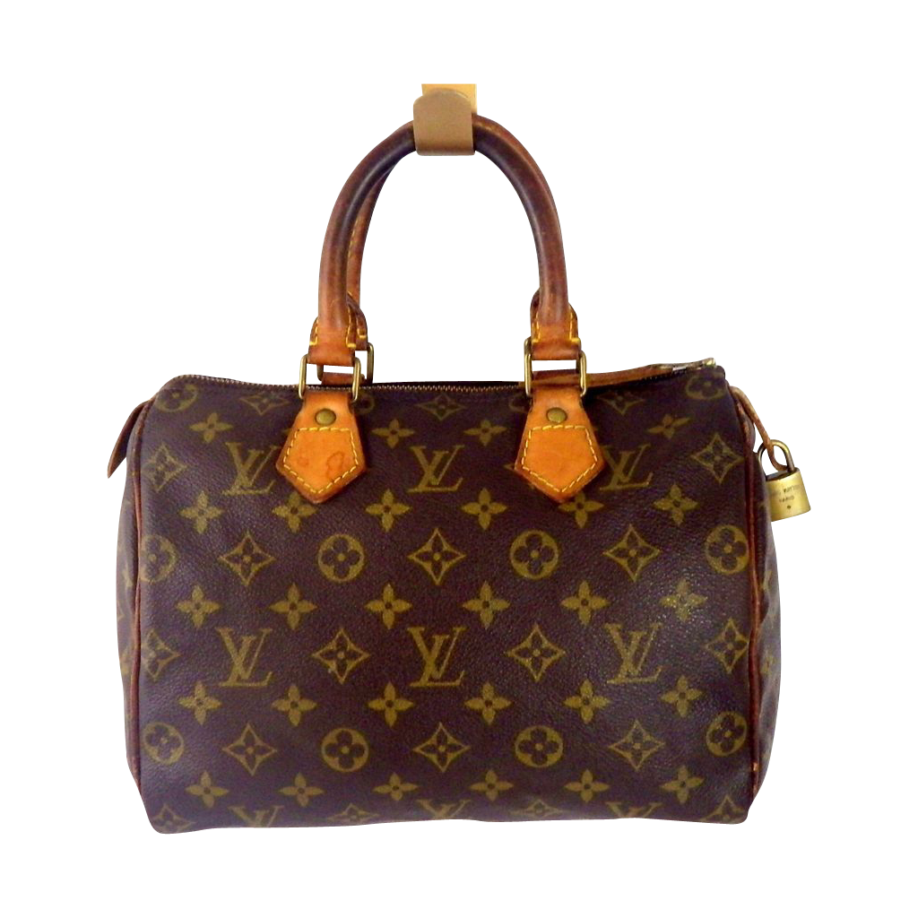 louis vuitton speedy 25 authentic sold on ruby lane. Black Bedroom Furniture Sets. Home Design Ideas