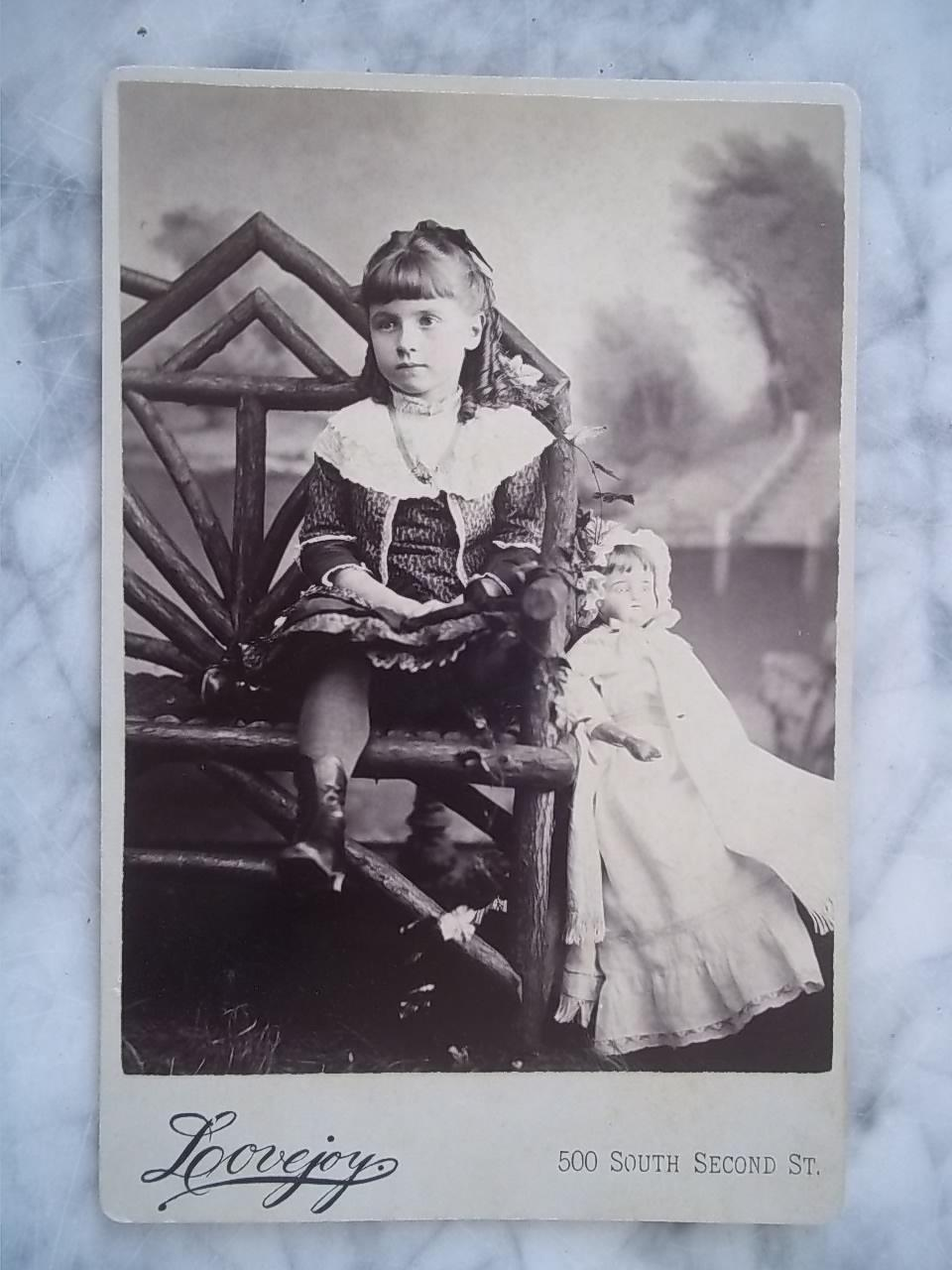 Dear 1880s Child and her Favorite Doll Photo