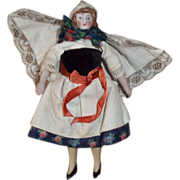 """1920s German Doll House Doll 5"""" Tall, All Original Clothes"""