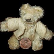 """Dear 3"""" Vintage Miniature Steiff Teddy Bear"""
