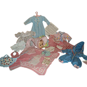 """Vintage Wardrobe and Accessories for 9-11"""" Dydee, Tiny Tears, or Betsy Wetsy Doll"""