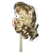 Vintage Mohair Wig in a Size 9