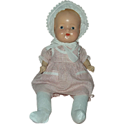 "21"" Deco Era Composition and Cloth Baby Doll"