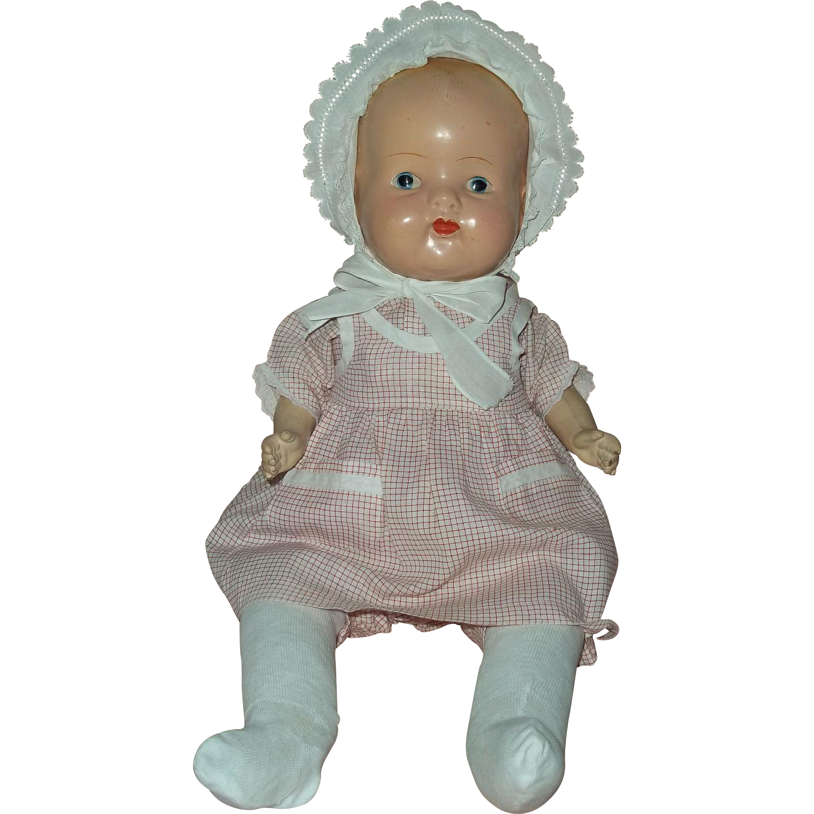 """21"""" Deco Era Composition and Cloth Baby Doll"""