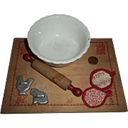 Vintage Doll Size Baking Set