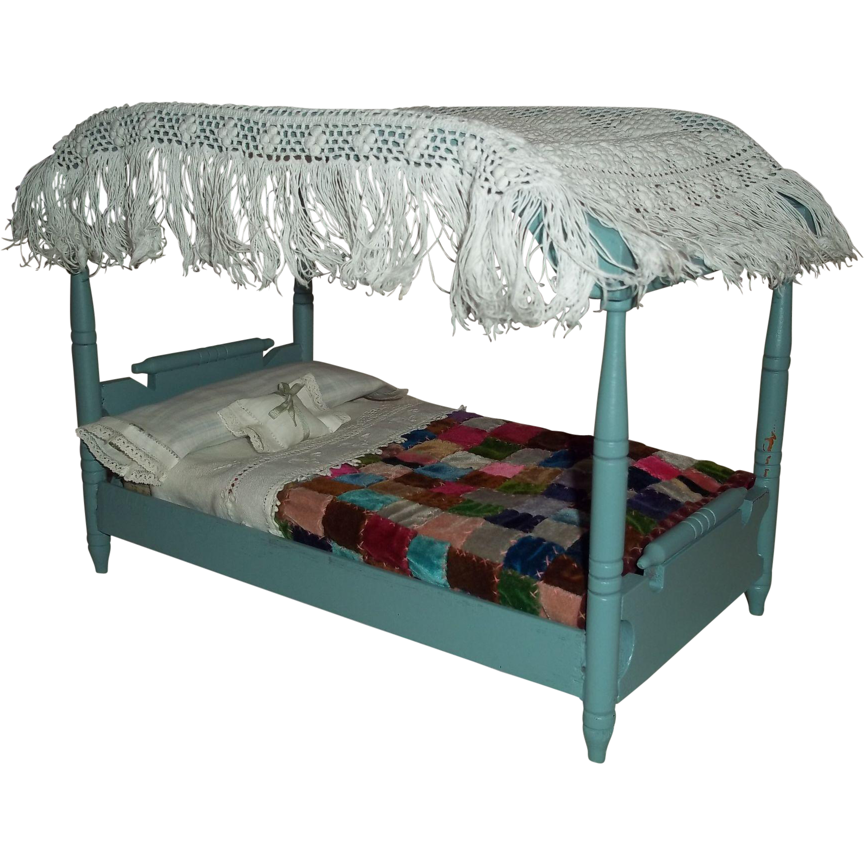 mid 20c canopied doll bed and dressings for 8 11 quot dolls canopied bed romantic canopy beds images about canopy bed