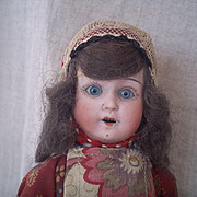 "Early 20c. 9""  Factory Original Regional German Doll"