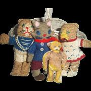 Vintage Basket of Doll Pet Toys