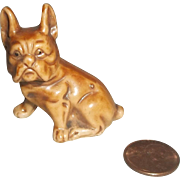 Porcelain French Bull Dog Figurine-Great Mignonette Size