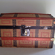 C.1900 Domed Doll Trunk  with Tray