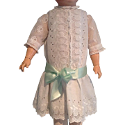 """Vintage Embroidered Lace Dropped Waist Doll Dress for 28"""" to 31"""" Doll"""
