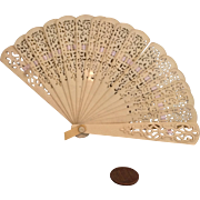Vintage Lovely Miniature Celluloid Fan for Medium to Large Doll