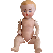 Dear Blond Baby All Bisque Doll, Ptd. Eye, Pin Jointed